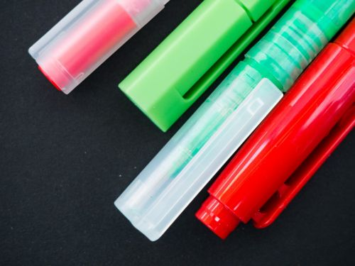 pens highlighters markers