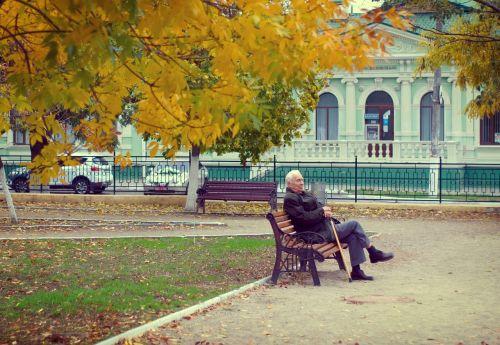pensioner the old man autumn