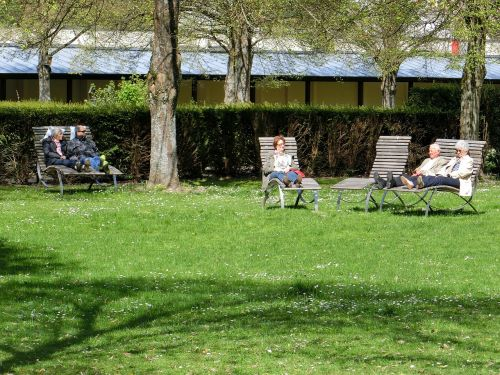 pensioners park relax