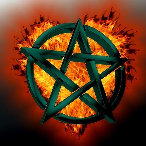 pentagram symbol green