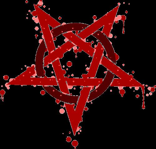 pentagram rouge spot