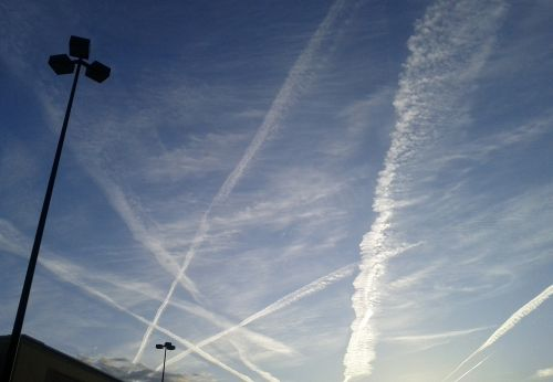 pentagram clouds sky