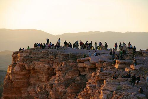people sunset horizon