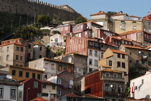 people hillside houses