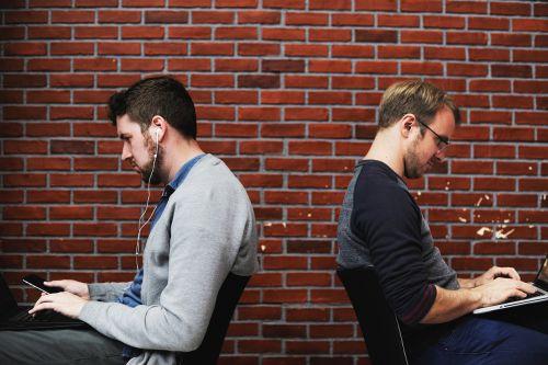 people men sitting