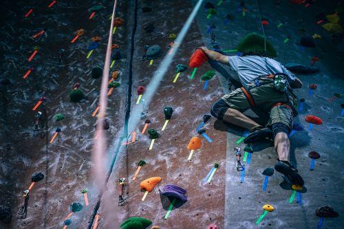 people man climbing