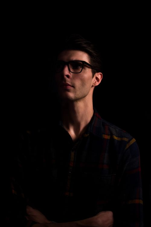 people man eyeglasses