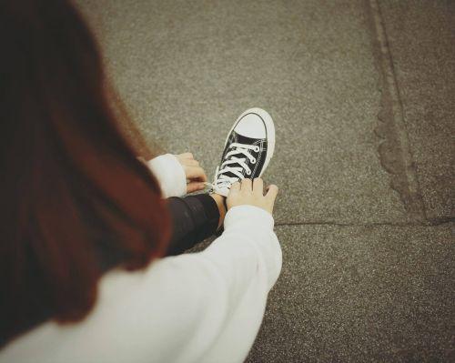 people woman sneakers