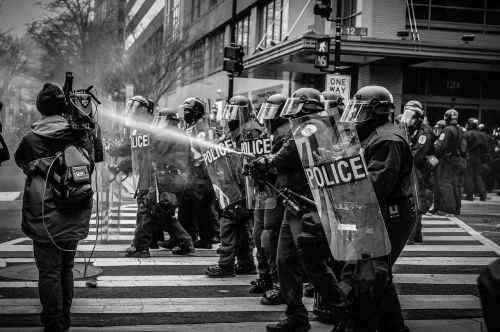 people police protest