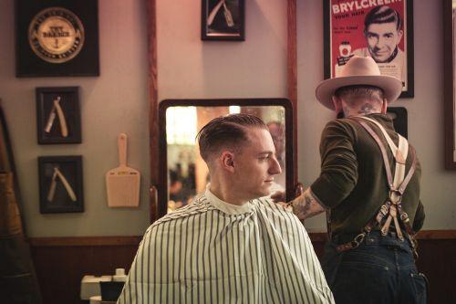 people barbershop haircut