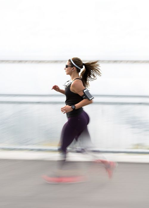 people woman running