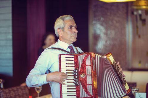 people accordionist accordion