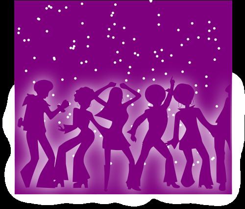 people dancing disco