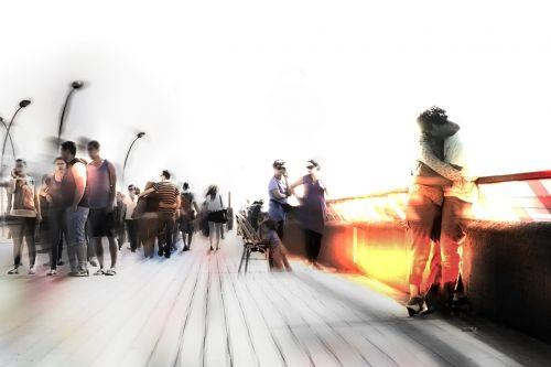 people blur blurred