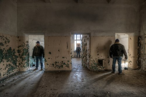 people  indoors  asylum