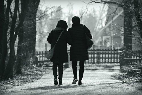 people  walking  side by side