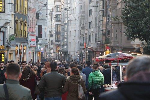 people  the crowd  taksim