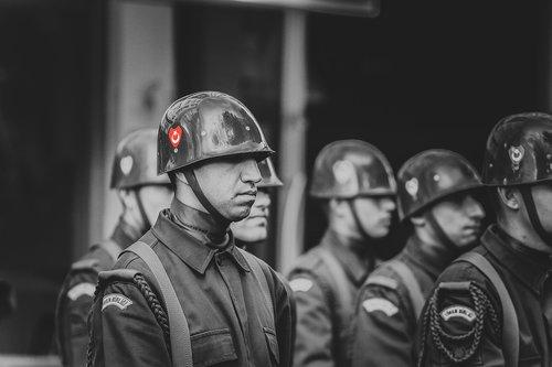 people  helmet  military