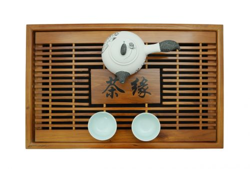 wooden tray tray china tea set