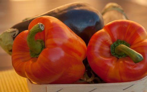 peppers eggplant vegetables