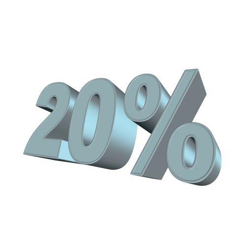 percent 20 3d
