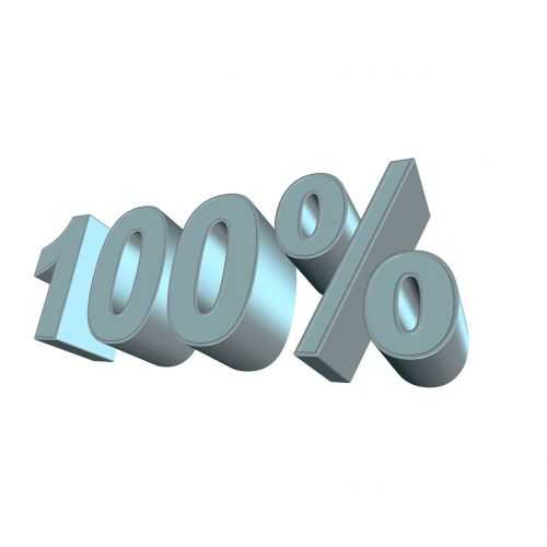 percent one hundred 100