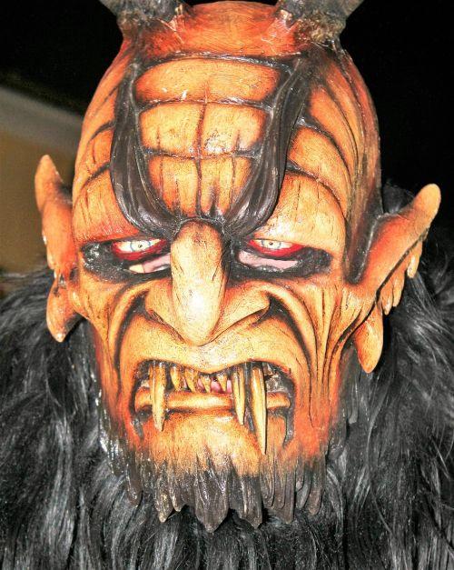 perchte customs mask