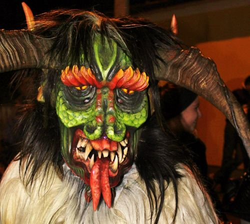 perchtenmaske wooden mask carnival