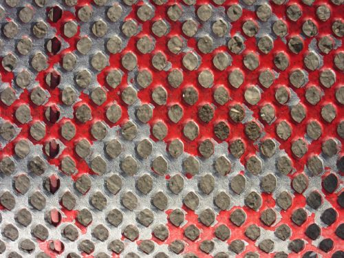 perforated sheet color red
