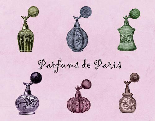 Perfume Bottles Vintage Set