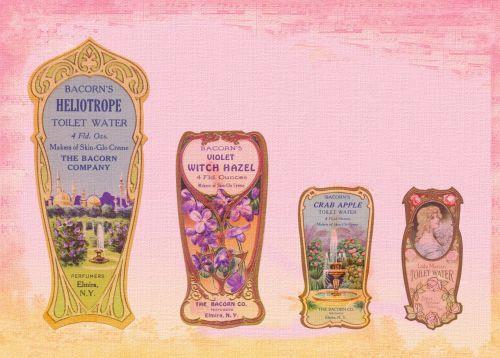 Perfume Labels Vintage