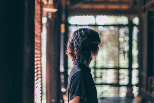person hair portrait
