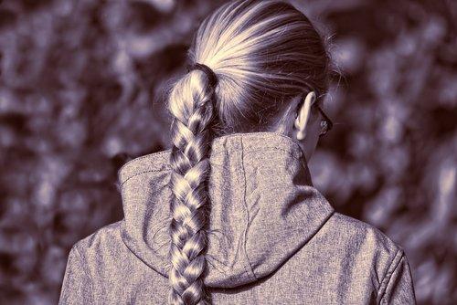 person  girl  hair