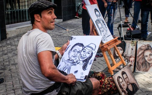 person  drawing  art
