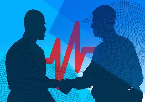 person handshake business