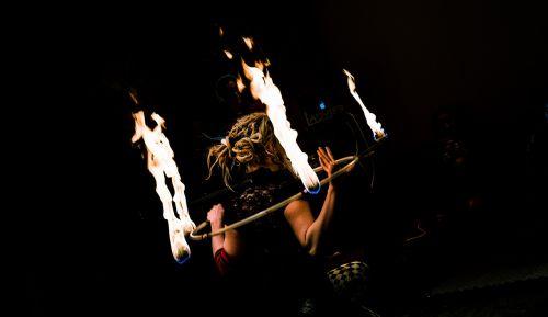 person artist fire