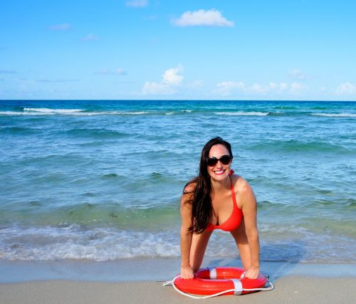 person woman beach