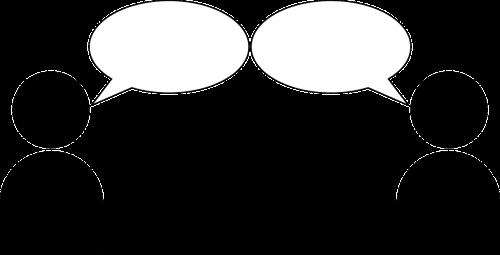persons symbol talk