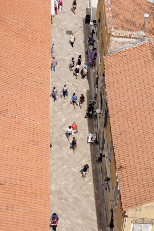 perspective from above pedestrian zone