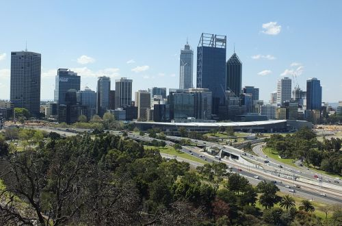perth city skyline city