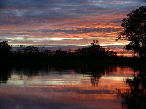 peru lagoon sunrise