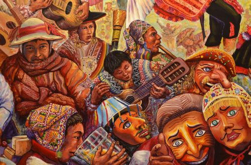 peru cusco painting