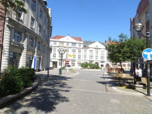 Pedestrian Zone In Hradec Králové