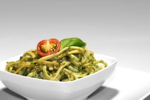 pesto bowl spaghetti