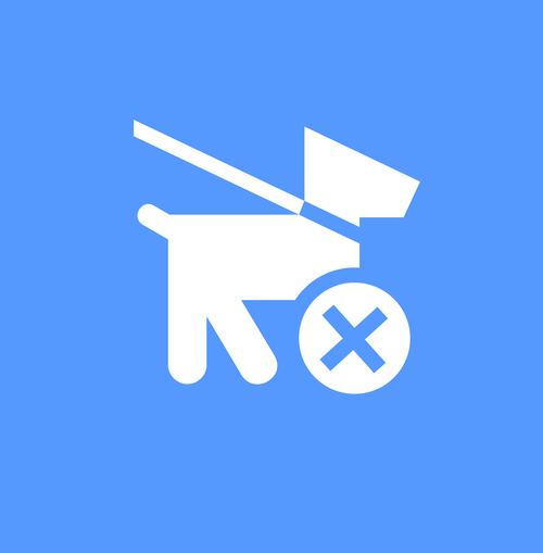 pet not allowed icon  pet icon  icon blue
