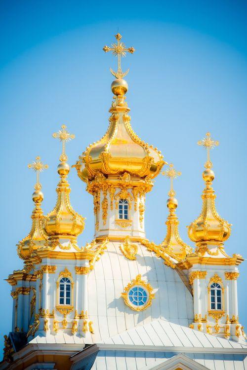 peterhof dome st petersburg russia