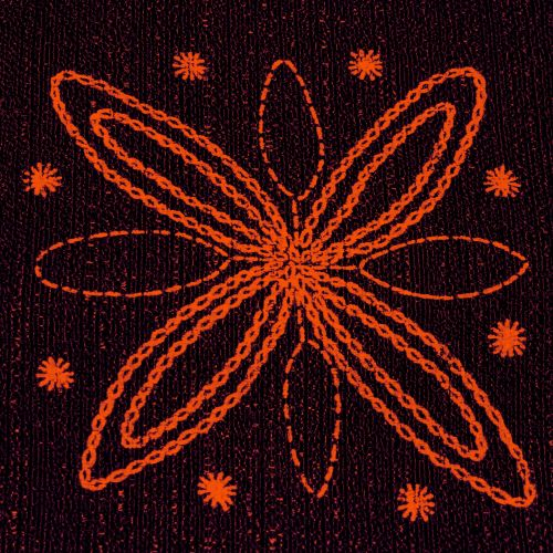 Small Embroidered Fabric (2)