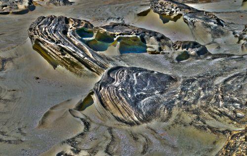 smėlis, nusmukęs, susmulkintas & nbsp, smelis, geologija, papludimys, jūra, oregonas, kranto, nusmukęs smelis