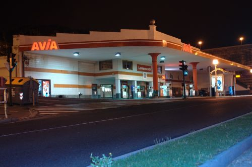 petrol station station urban