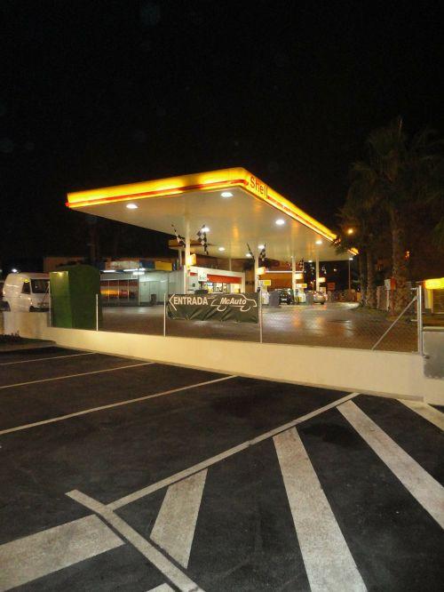 petrol station gasoline station